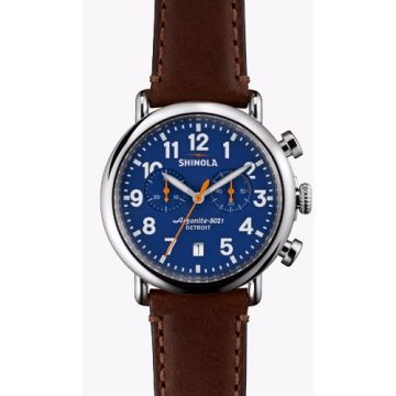 Shinola The Runwell Chrono Quartz Stainless Steel 41mm Watch