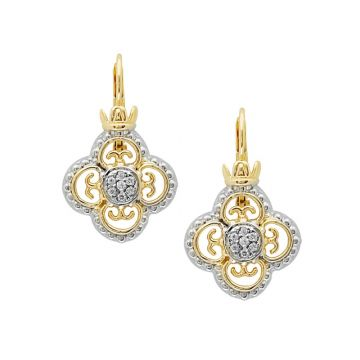 Vahan 14k Yellow Gold & Sterling Silver Diamonds Earrings