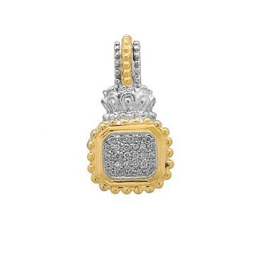 Vahan 14k Yellow Gold & Sterling Silver Diamond Pendant