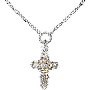 Vahan 14k Gold & Sterling Silver Diamond Pendant