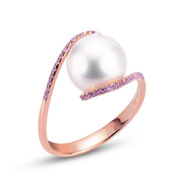 Imperial Pearl 14k Rose Gold Freshwater Pearl Ring