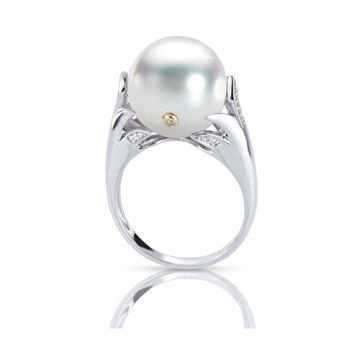 Imperial Pearl 14k White Gold Freshwater Pearl Ring