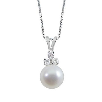 Imperial Pearl 14k White Gold Akoya Pearl Pendant