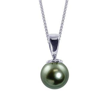 Imperial Pearl 14k White Gold Tahitian Pearl Drop Pendant