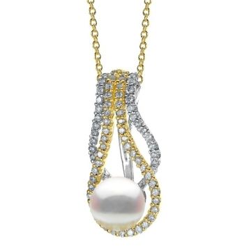 Imperial Pearl 14k Yellow Gold Akoya Pearl Pendant
