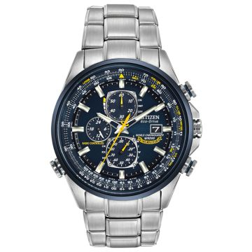 Citizen Eco-Drive World Chronograph Atomic Time Stainless Steel Two-Tone 43mm Men's Watch