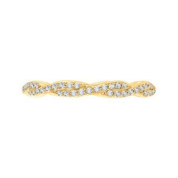 Shah Luxury 14k Yellow Gold Diamond Wedding Band