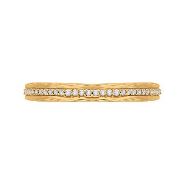 Shah 14K Yellow Gold Carizza Women's Diamond Wedding Band