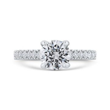 Shah 14k White Gold Carizza Semi-Mount Diamond Engagement Ring