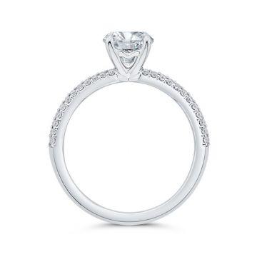 Shah 14k White Gold Carizza Semi-Mount Diamond Engagement Ring