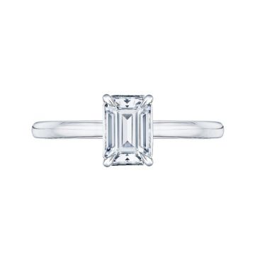 Shah 14k White Gold Carizza Solitaire Diamond Engagement Ring