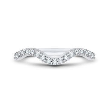 Shah Luxury 18k White Gold Diamond Carizza Wedding band