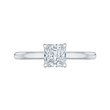 Shah 14k White and Yellow Gold Carizza Solitaire Diamond Engagement Ring