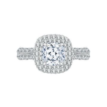 Shah Luxury 18k White Gold Diamond Engagement Ring
