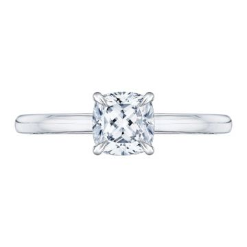 Shah 14k White and Rose Gold Carizza Solitaire Diamond Engagement Ring