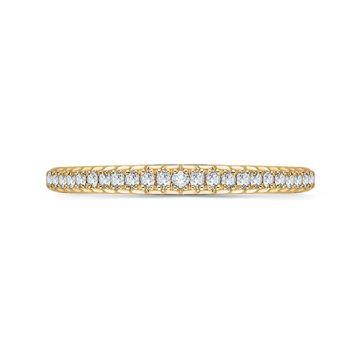 Shah Luxury 18k Yellow Gold Diamond Promezza Wedding Band