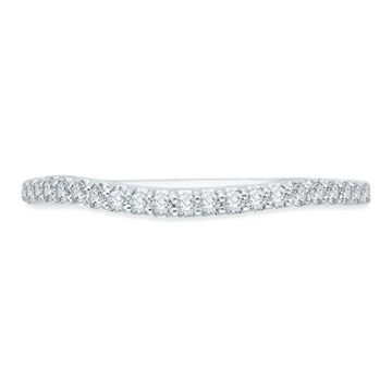 Shah Luxury 18k White Gold Diamond Promezza Wedding Band