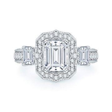 Shah Luxury 18k White Gold Diamond Boutique Engagement Ring