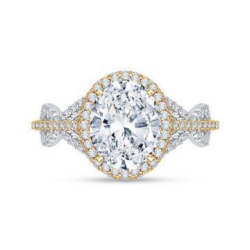 Shah Luxury 18k White Gold Diamond Carizza Boutique Engagement Ring
