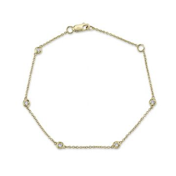Shy Creation 14k Yellow Gold Bracelet