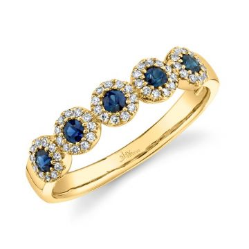 Shy Creation 14k Yellow Gold Diamond and Gemstone Ring