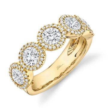 Shy Creation 14k Yellow Gold Diamond Ring
