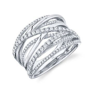 Shy Creation 14k White Gold Ring