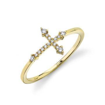 Shy Creation 14k Yellow Gold Ring