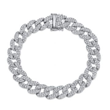 Shy Creation 14k White Gold Bracelet