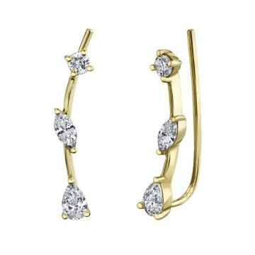 Shy Creation 14k Yellow Gold Earrings