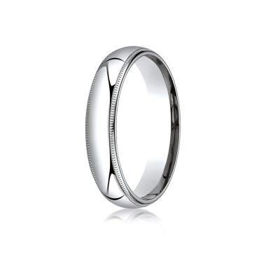 Benchmark 14k White Gold Wedding Band