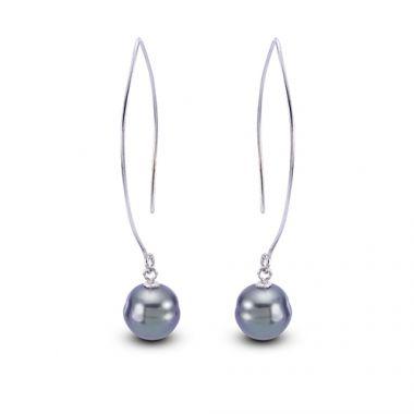 Imperial Pearl Sterling Silver Tahitian Pearl Earrings