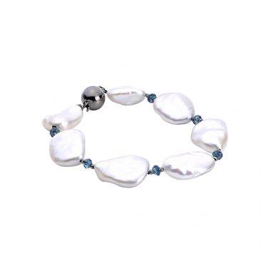 Imperial Pearl Sterling Silver Freshwater Pearl Bracelet