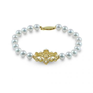 Imperial Pearl 14k Yellow Gold Freshwater Pearl Bracelet