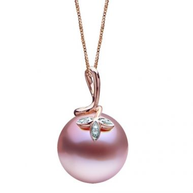 Imperial Pearl 14k Rose Gold Freshwater Pearl Necklace
