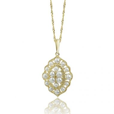 Imperial Pearl 14K Yellow Gold Freshwater Pearl Pendant