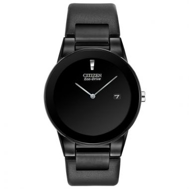 Citizen Eco-Drive Axiom Leather Black 40mm Men's Watch