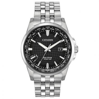 Citizen Eco-Drive World Time (non A-T) Stainless Steel Men's Watch