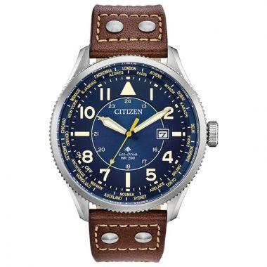 Citizen Eco-Drive Avion Calfskin Men's Watch