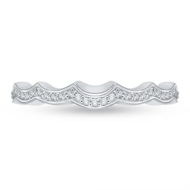 Shah Luxury 18k White Gold Diamond Carizza Wedding band