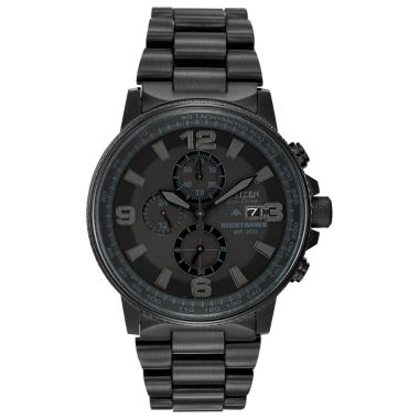 Citizen Eco-Drive Nighthawk Stainless Steel Black 42mm Men's Watch