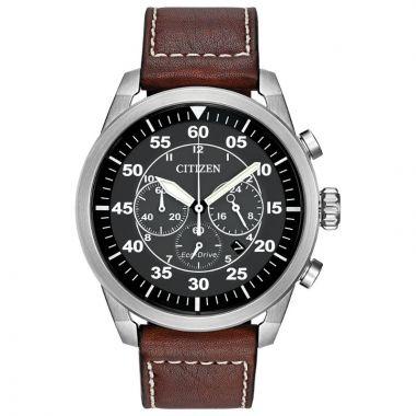 Citizen Eco-Drive Avion Leather Men's Watch