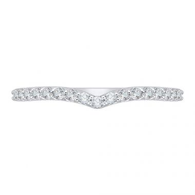Shah Luxury 14k White Gold Diamond Wedding Band