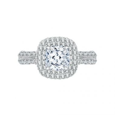 Shah Luxury 18k White Gold Diamond Engagement Ring