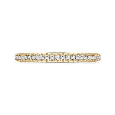 Shah Luxury 18k Yellow Gold Diamond Promezza Wedding Band