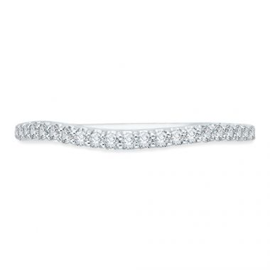 Shah Luxury 18k White Gold Diamond Promezza Wedding Band