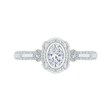 Shah Luxury 14k White Gold Diamond Engagement Ring