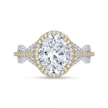 Shah Luxury 18k White Gold Diamond Carizza Boutique Engagement Ring