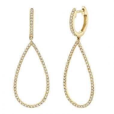 Shy Creation Yellow 14K Gold 0.40Ct Diamond Earring