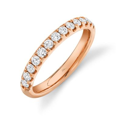 Shy Creation 14k Rose Gold Wedding Band
